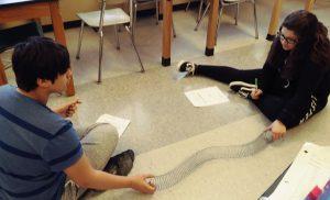 Kids playing with Slinkeys