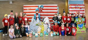 Dr. Suess Day students
