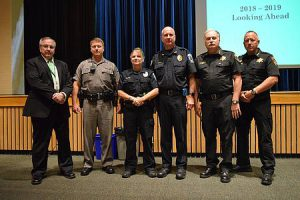 Superintendent with representatives of law enforcement agents