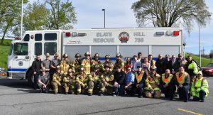 Group of first responders