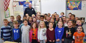 Officer Sean with children