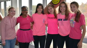 girls dressed in pink