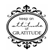 Keep an attitude on gratitude sign