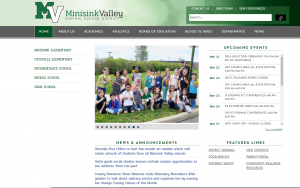 Screen shot of new website home page