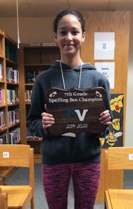 7th grade spelling bee winner