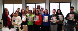 Students with their cookbooks
