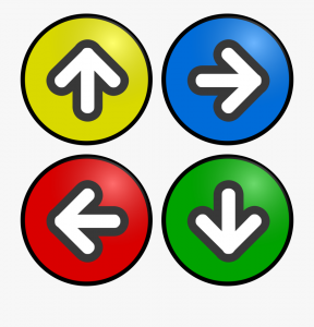 arrows used for directions