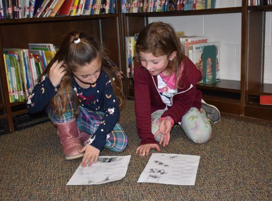 two girls involved in partner reading