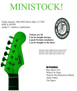 Poster of Ministock concert on Jan. 10