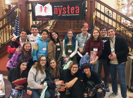 drama club students who attended conference