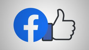 "Facebook logo and ""like"" button"