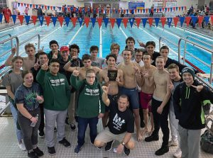 boys swimming and diving team