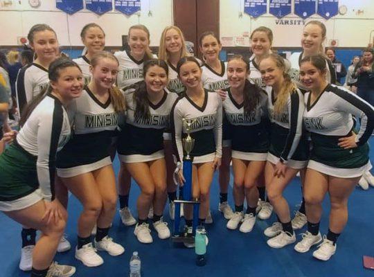 group of varsity cheerleaders