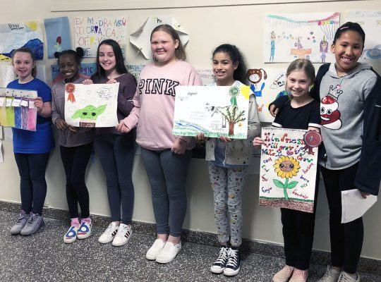Winners of the kindness poster contest