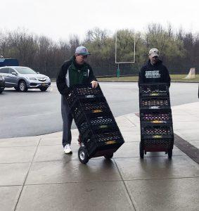 guys loading up food