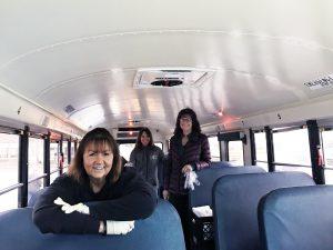 ladies on a bus