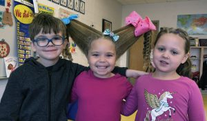 students with crazy hair styles