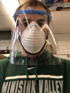 rich budd wearing face mask