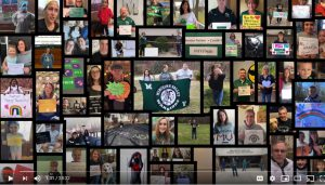 Photto montage of district staff and students