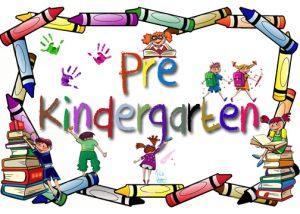 pre-kindergarten sign