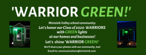 Sign explaining the WARRIOR GREEN light project