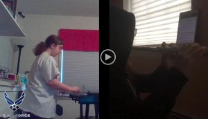 Photos of students playing music