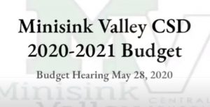 photo of title slide: May 28 budget hearing