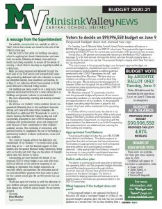 budget newsletter front page