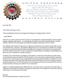 United Together letter from Orange County superintendents