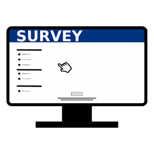 clipart of survey on a computer screen