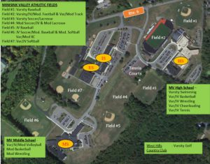 Althleic field map