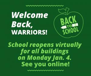Welcome back Warriors photo