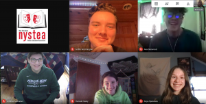 Students attending virtual conference on a screenshot