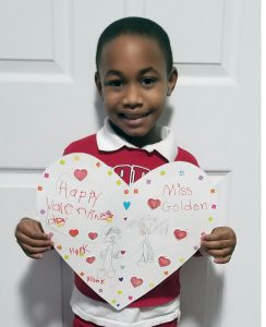 boy with valentine