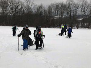 Otisville students snowshoeing