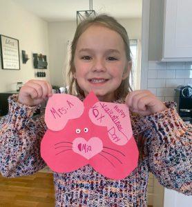 Girl with valentine
