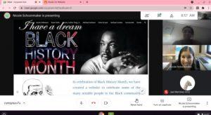 Black History month website photo