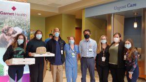 students with Garnet Healthcare nurses