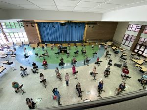 Otisville band students
