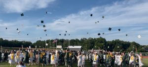 Class of 2021 cap toss