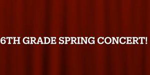 Sixth-grade spring concert title slide