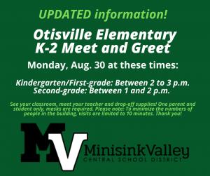 Otisville K-2 meet and greet poster