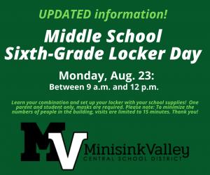 6th grade locker day