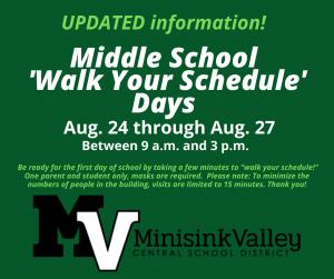 Walk your schedule days Flyer