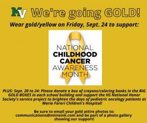 Childhood cancer awareness poster
