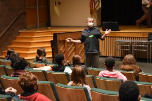 guest speaker talking to class